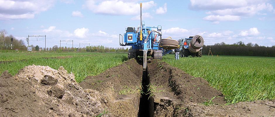 Aanleg peilgestuurde drainage